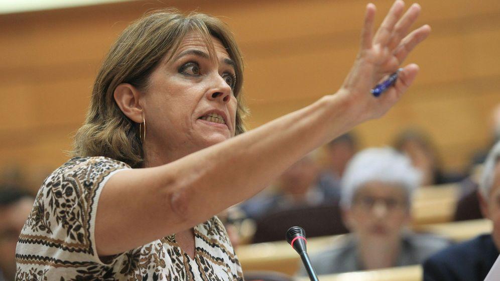 Foto: La ministra Dolores Delgado, durante su intervención ayer en el Senado. (EFE)