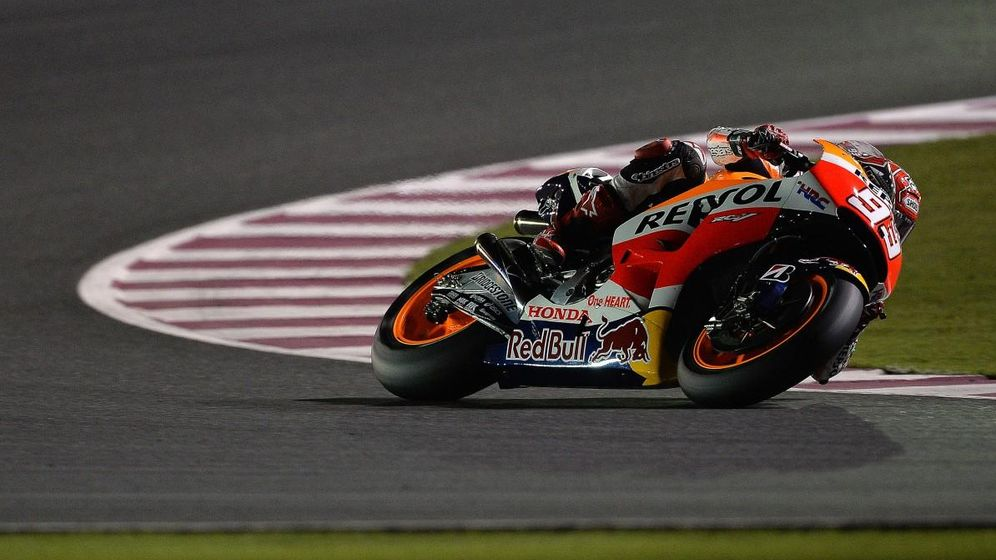 Foto: Marc Márquez en los primeros libres de Qatar (MotoGP).