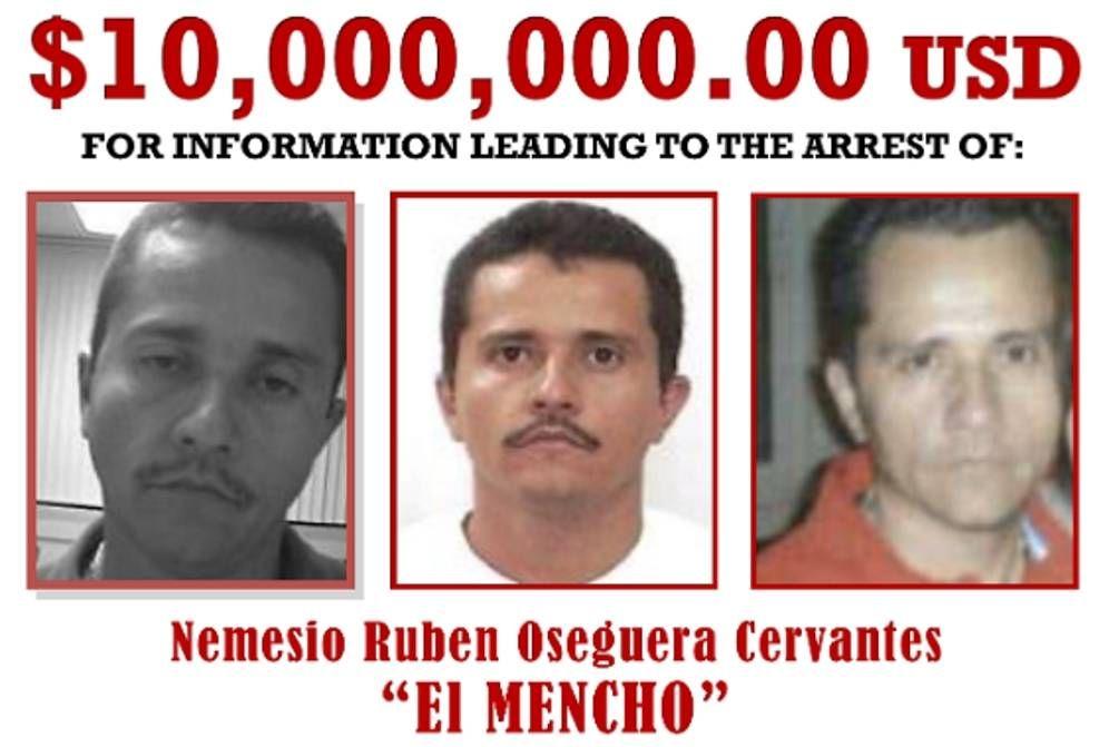 Foto: 'El Mencho', el narco más buscado del mundo por el que pagan 9 millones por su cabeza. (DEA)