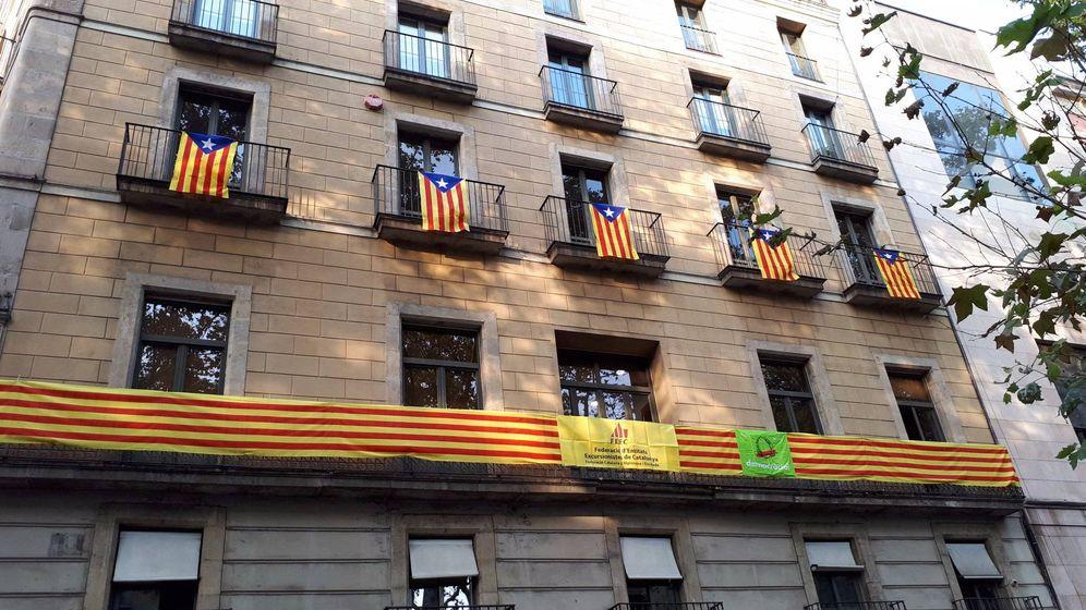Foto: La sede de la Federación Catalana de Montaña en una imagen de hace unas semanas. (Twitter: @FEEC_cat)