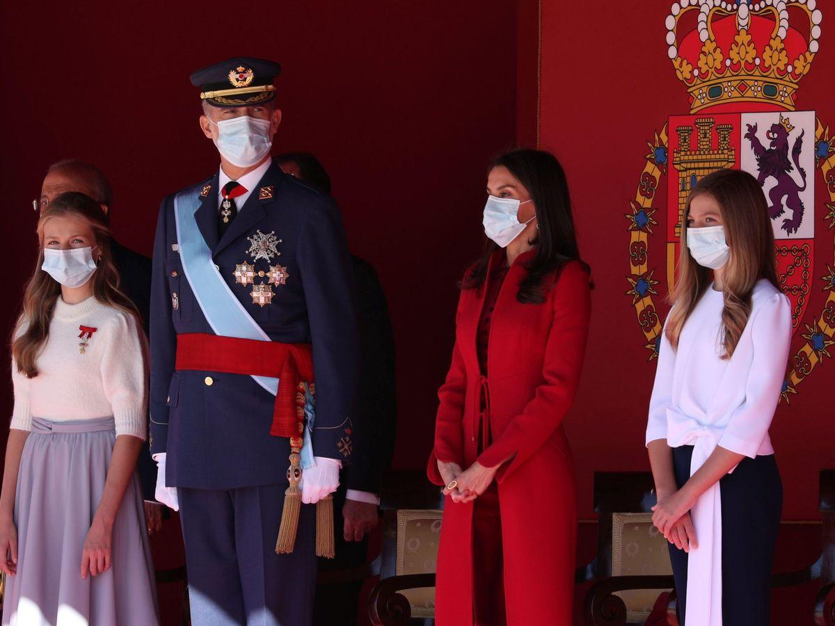 Foto: La familia real preside las celebraciones del Día Nacional. (EFE)