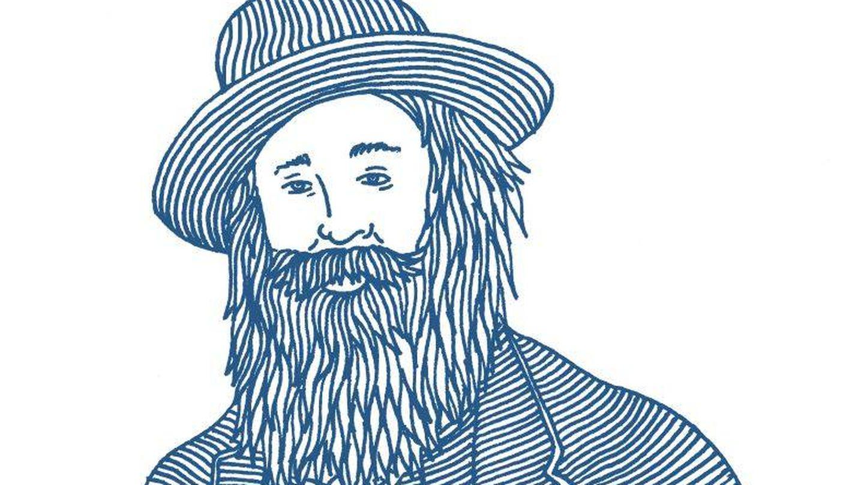 Una ilustración de Walt Whitman, realizada por Matthew Allen.