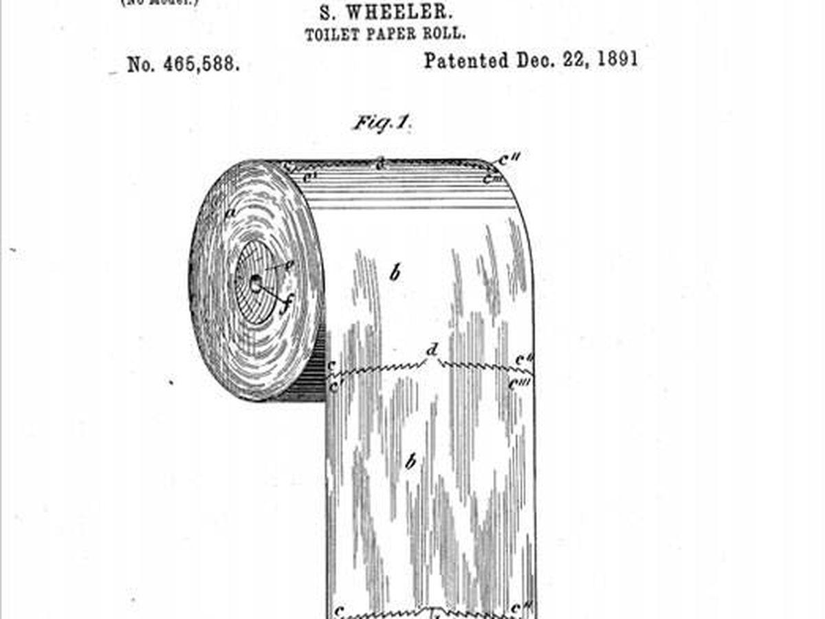 Foto: Patente del papel higiénico en 1891