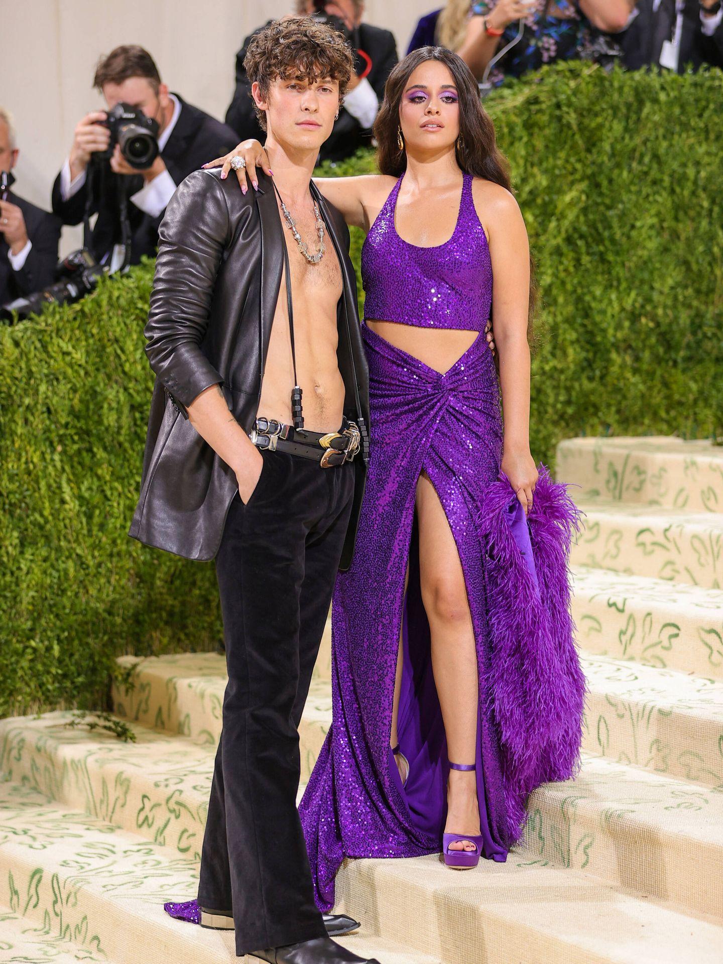 Shawn Mendes y Camilla Cabello. (Getty)