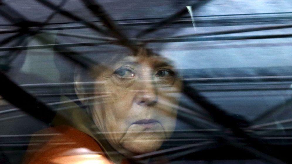 Foto: Angela Merkel, en su llegada a la Casa Konrad Adenauer. (Reuters)