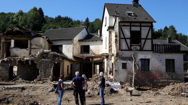Casas destruidas tras las inundaciones que asolaron Altenahr, en el distrito de Ahrweiler, Alemania, en septiembre. Foto: EFE