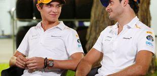Post de Esto no se ve todos los días en la Fórmula 1: el gesto de Lando Norris con Carlos Sainz