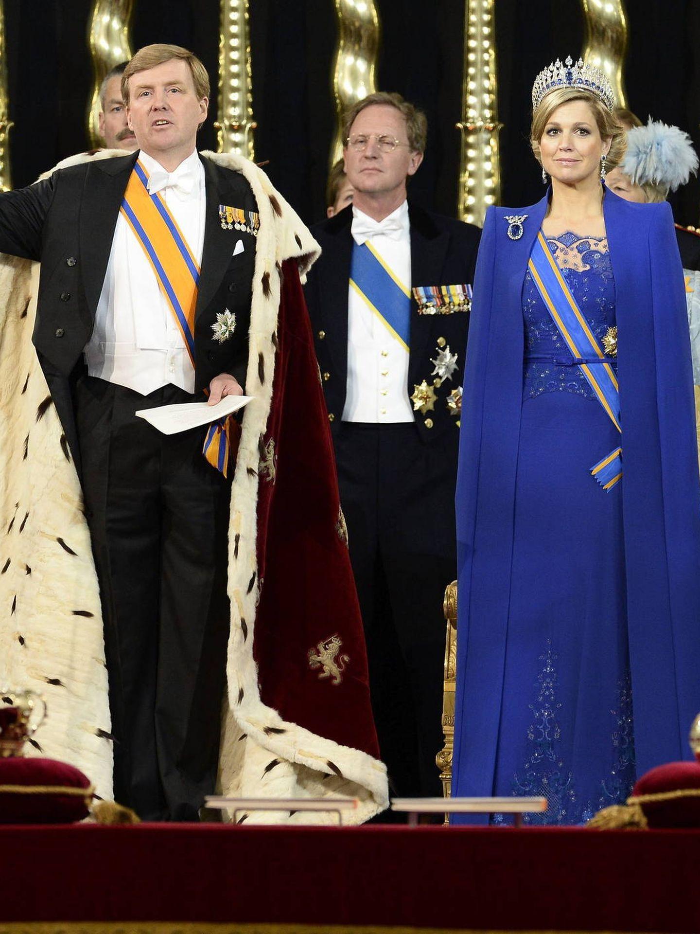 Guillermo Alejandro y Máxima, el día de su investidura. (EFE)