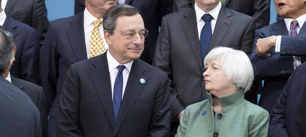 Foto: Mario Draghi y Janet Yellen, en una reunión del G-20
