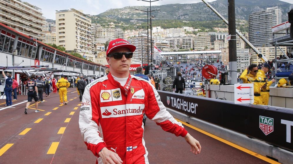Foto: Raikkonen, durante el Gran Premio de Mónaco (Efe).