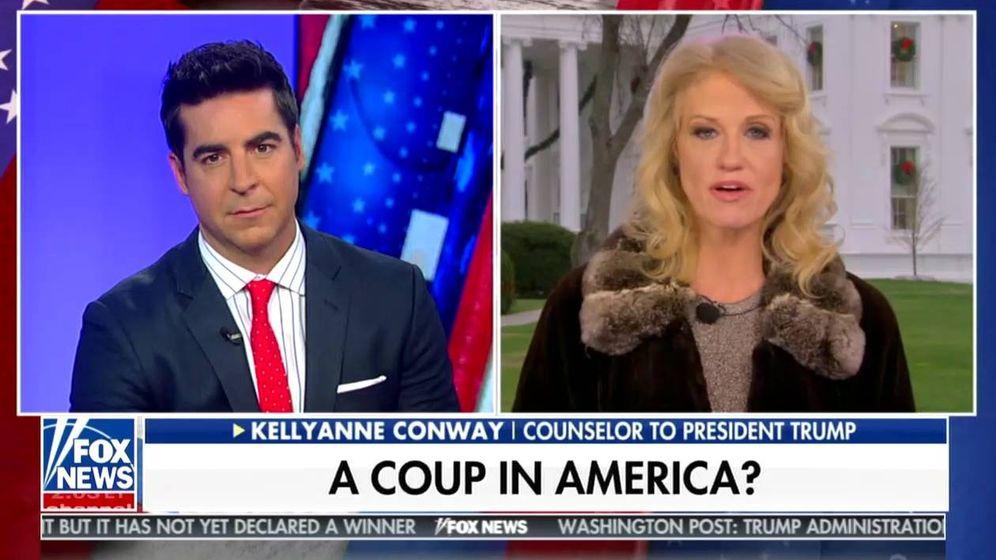 Foto: Captura de pantalla de un video de Fox News en el que Kellyanne Conway, asesora de Trump, critica la investigación del fiscal Robert Mueller
