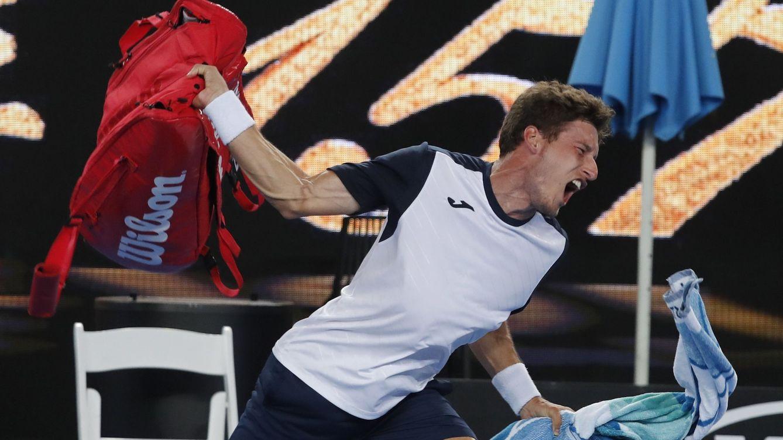 Pablo Carreño explota con insultos al árbitro en su derrota en el Open de Australia