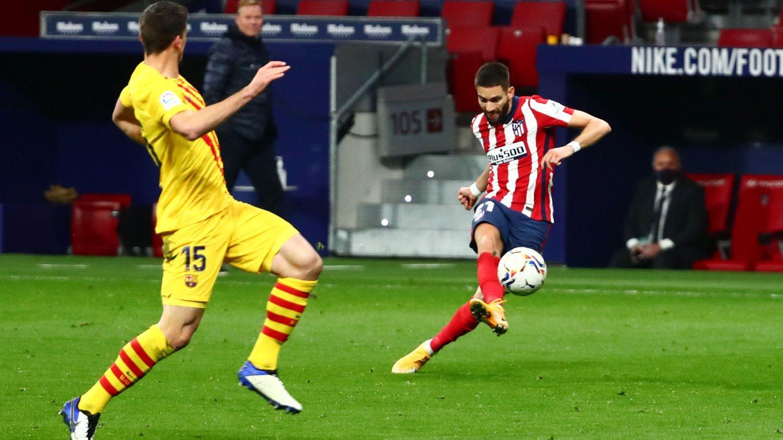 Carrasco anota el gol. (Reuters)