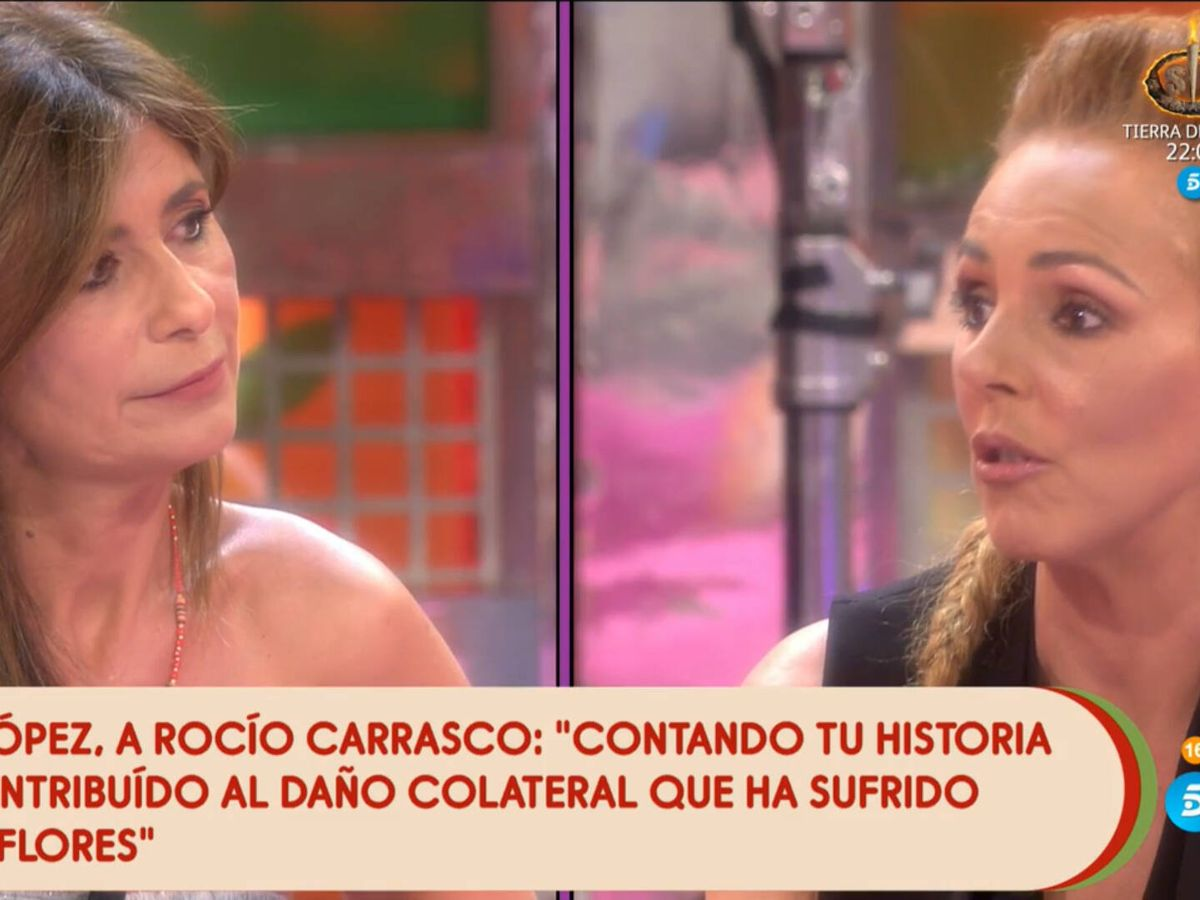 Foto: Gema López y Rocío Carrasco, en 'Sálvame'. (Telecinco)