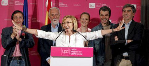Rosa Díez da la sorpresa con una importante representación en Madrid