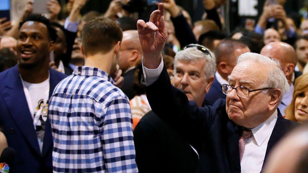 Foto: Warren Buffett en la conferencia de Omaha. (Reuters)