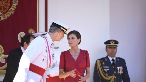 Letizia en las Fuerzas Armadas: segundo vestido rojo de estreno en apenas tres días