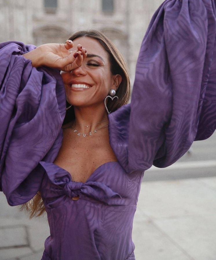 Foto: Paula Ordovás con el vestido de The Attico. (Redes)