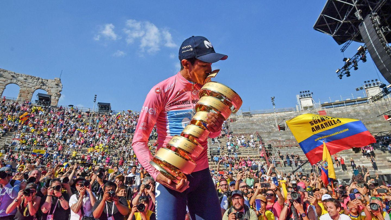 La marcha del campeón del Giro, Richard Carapaz, desató la enfrentamiento. (EFE)