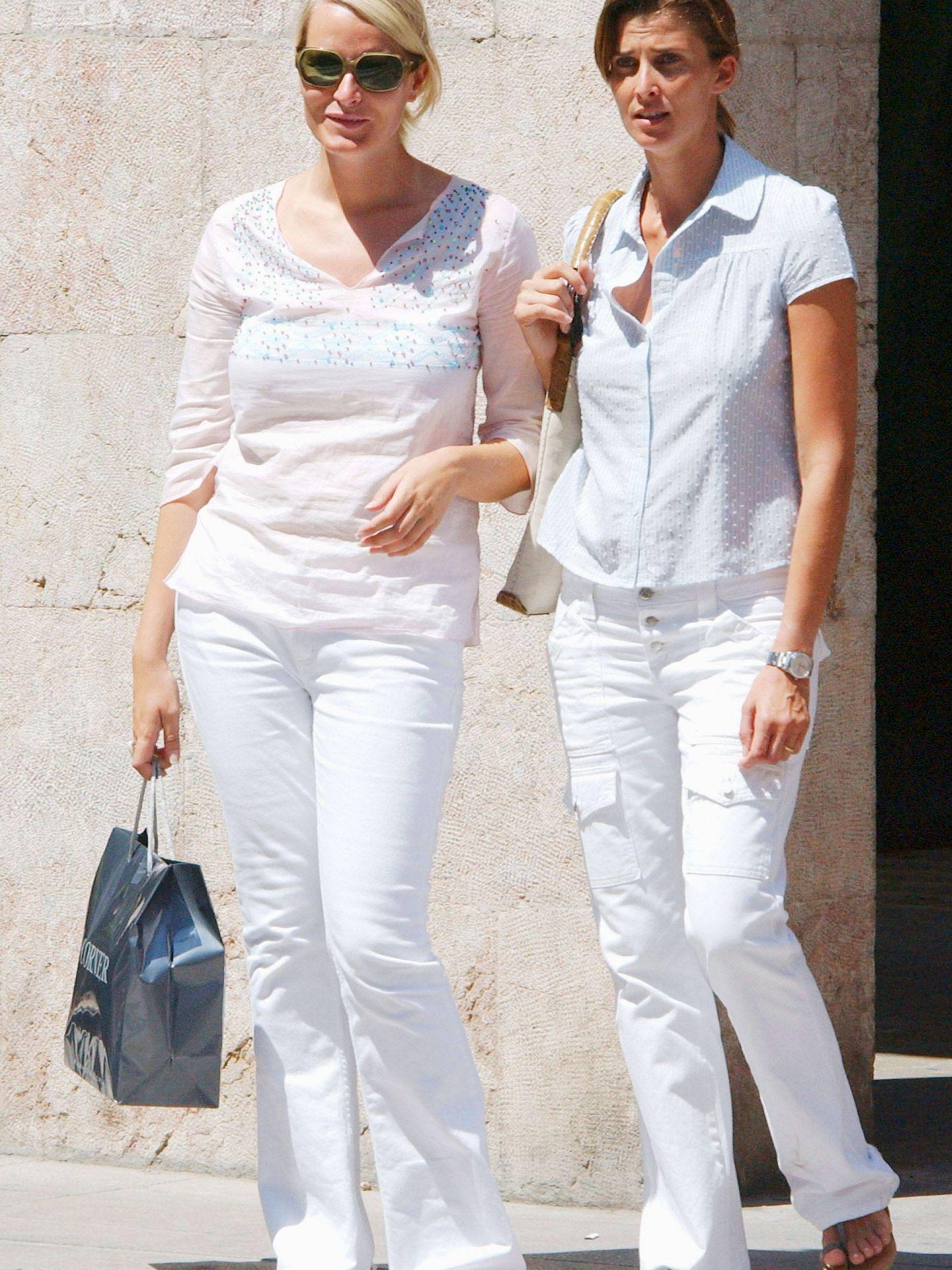 Rosario Nadal con Mete-Maritt hace dos veranos. (Getty)