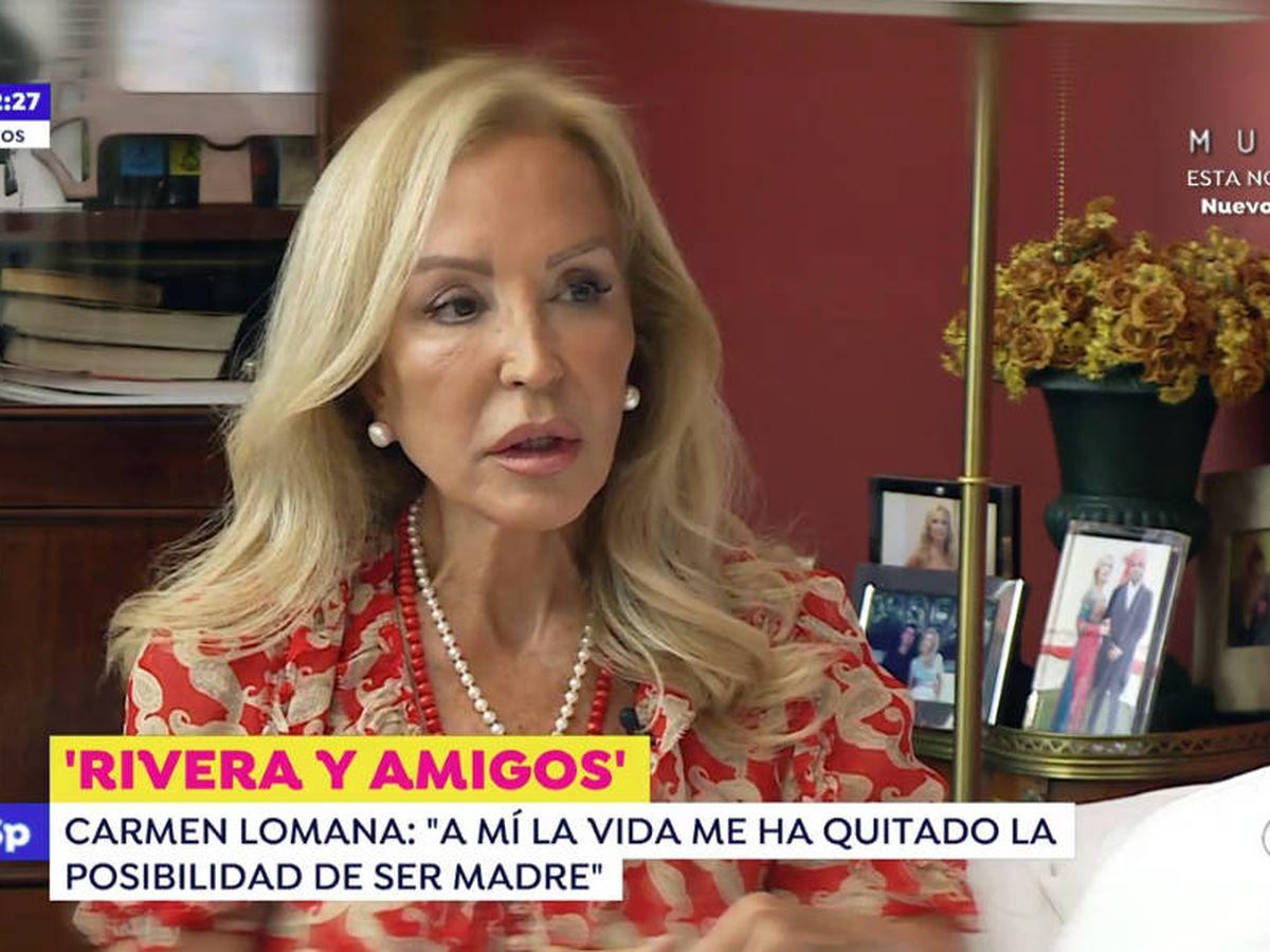 Foto: Carmen Lomana, en 'Espejo público'. (Antena 3)