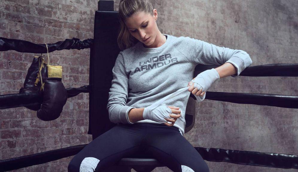 Foto: Gisele Bündchen también boxea. (Foto: Under Armour)