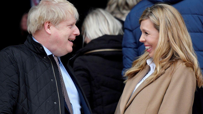 Boris Johnson y Carrie Symonds en una imagen de archivo. (Reuters)