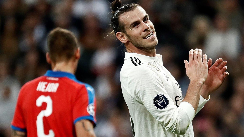 Bale en el partido contra el Viktoria Plzen. (Reuters)