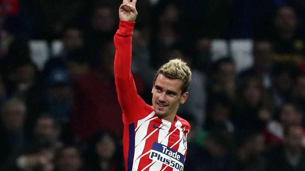 Foto: Griezmann, este miércoles, celebrando su gol. (Reuters)