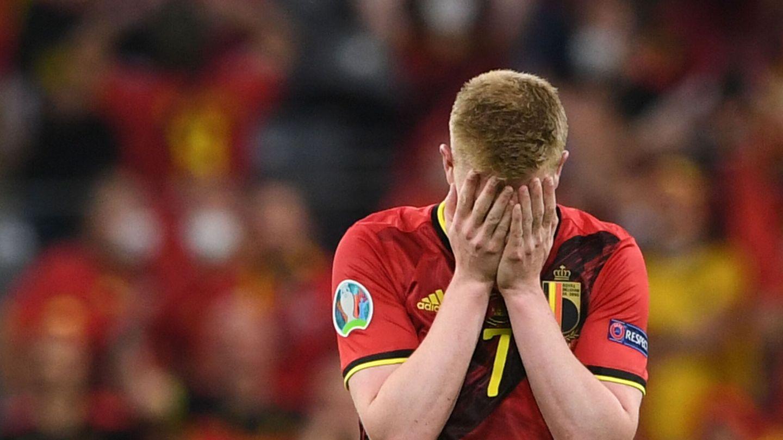 De Bruyne, desolado tras el partido. (Reuters)