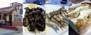 Comiendo pescado entre biznagas y meros