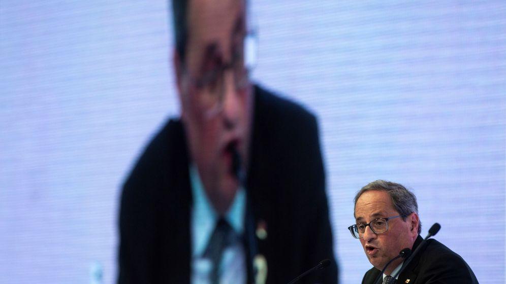 Foto: Quim Torra, en la XXXV Reunión del Círculo de Economía de Sitges. (EFE)