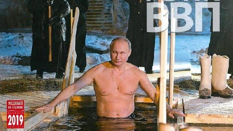 Vladimir Putin arrasa como pin-up de calendario en Japón