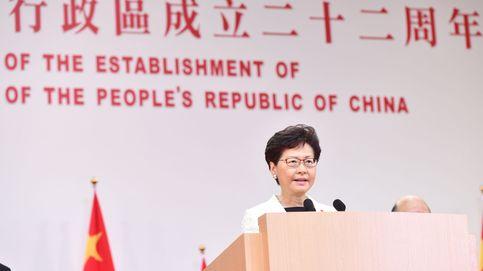 La líder de Hong Kong condena la violencia y dice que la ley de extradición no volverá