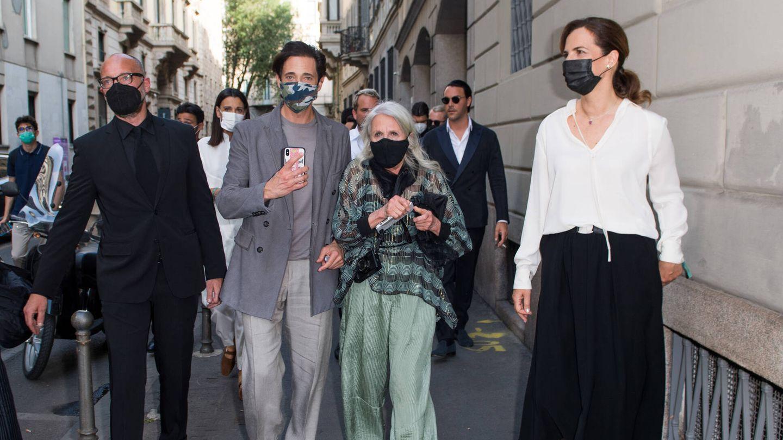 El actor, ayer en Milán para asistir al desfile de Armani. (Getty)