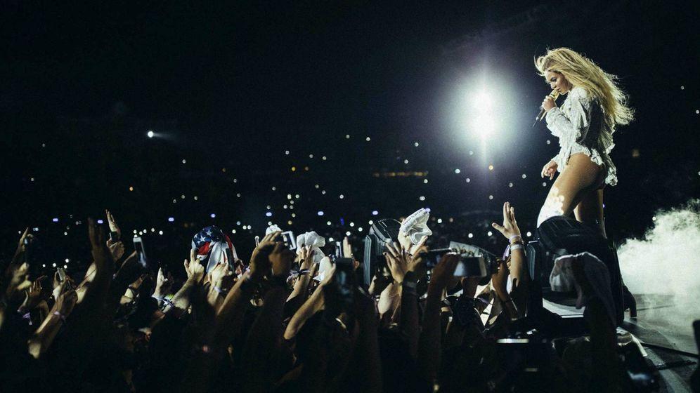 Foto:  Beyoncé durante su actuación en el Estadio Olímpico de Barcelona. (EFE)