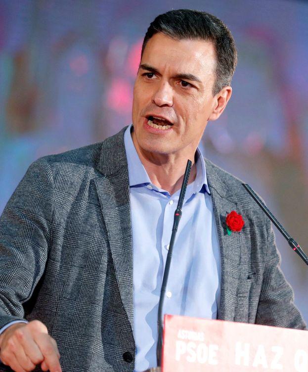 Foto: Pedro Sánchez, en Gijón, en la recta final de campaña. (EFE)