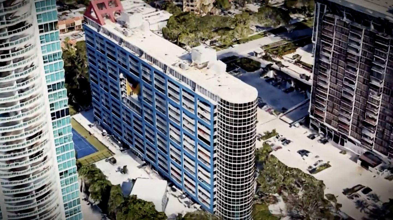 El edificio de apartamentos de Miami, donde tenía el suyo Rocío Jurado. (Mediaset)