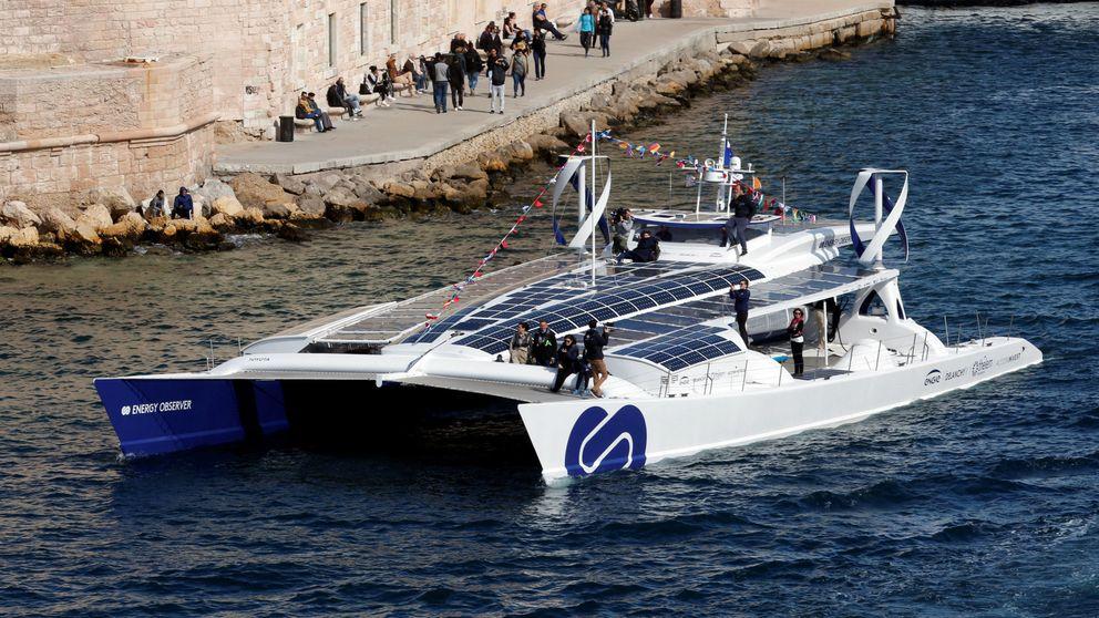 Este barco da la vuelta al mundo usando solo hidrógeno y luz solar