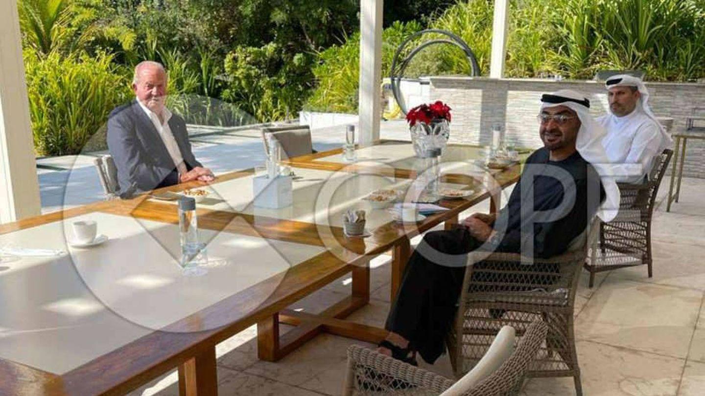 La fotografía de don Juan Carlos en Abu Dabi, publicada por el portal web de Cope.
