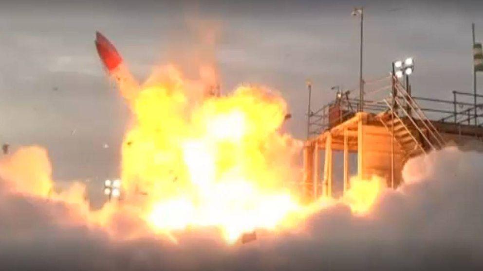 La espectacular explosión de un cohete japonés al fallar el despegue