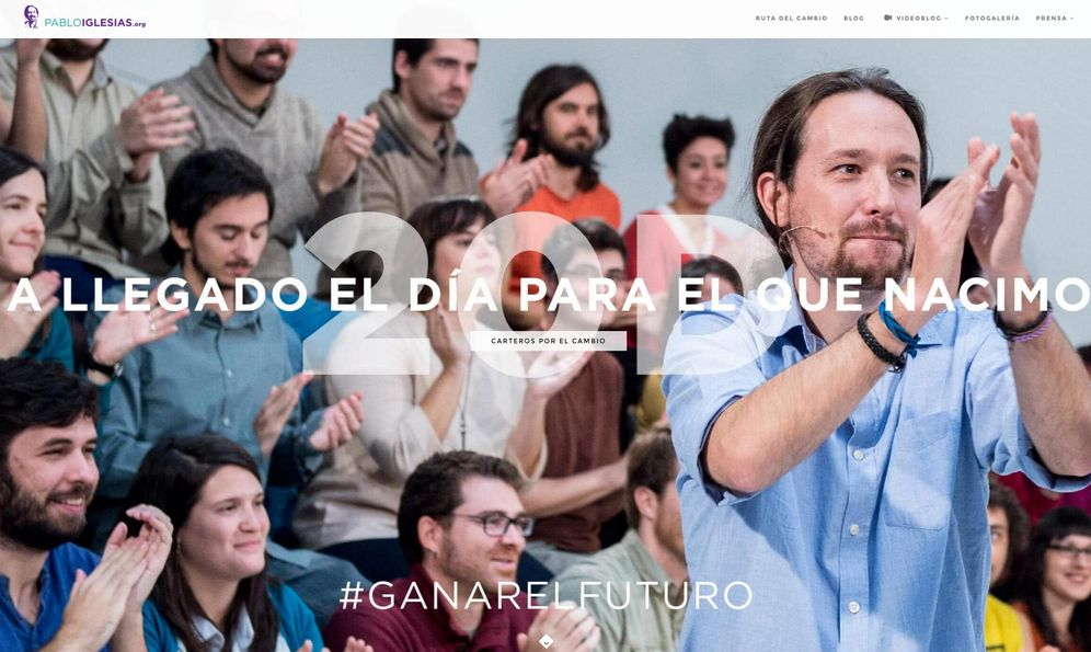 Foto: La página de inicio de la web de Pablo Iglesias.