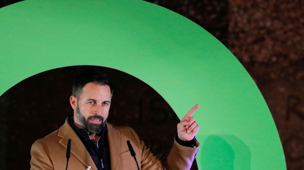 Foto: File photo: santiago abascal, leader of spain's far-right party vox, attends a campaign closing rally ahead of the general election, at colon square in madrid