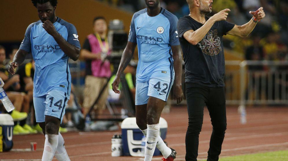 Foto: Pep Guardiola y Yaya Touré en un partido con el City (REUTERS)