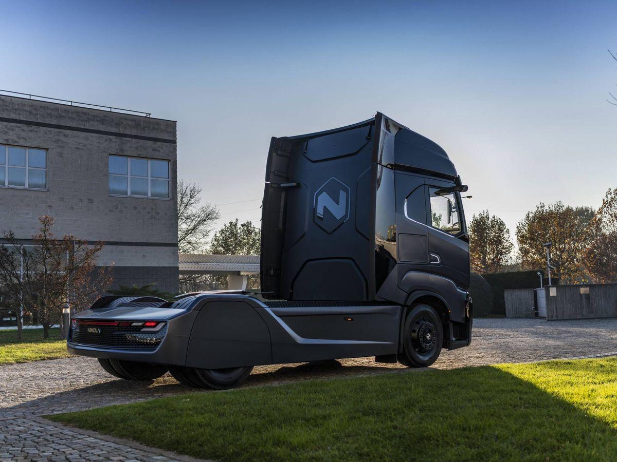 Foto: Esta es la maqueta del Nikola Tre cuyas pruebas en carretera comenzarán a mediados de 2020.