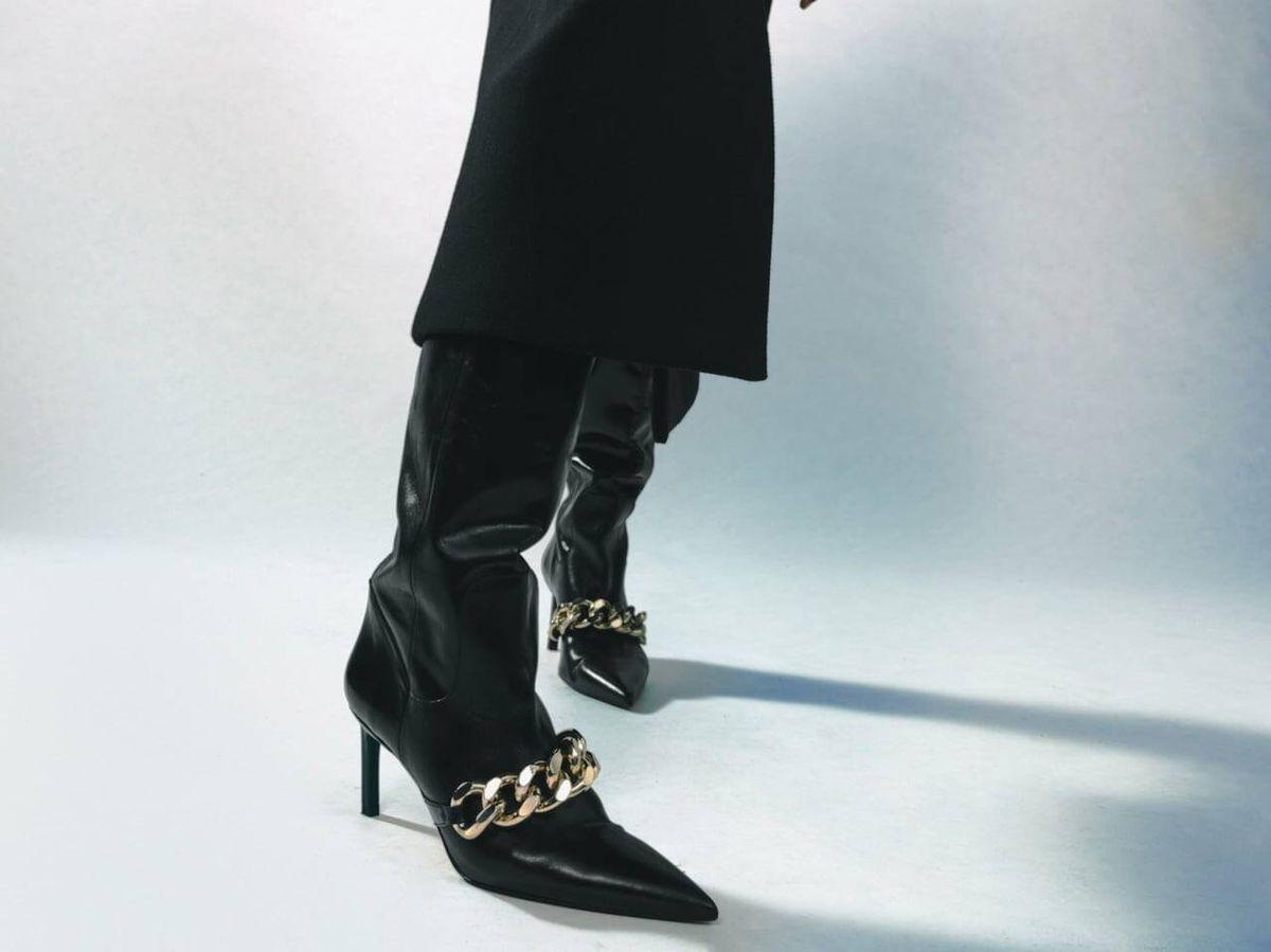 Foto: Botas altas de tacón de Zara. (Cortesía)