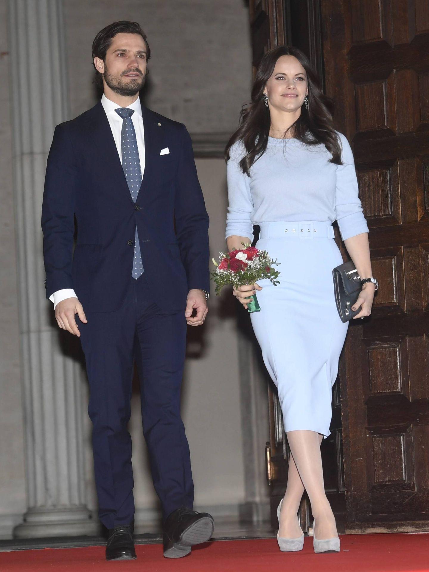 La princesa Sofía con la falda. (Cordon Press)