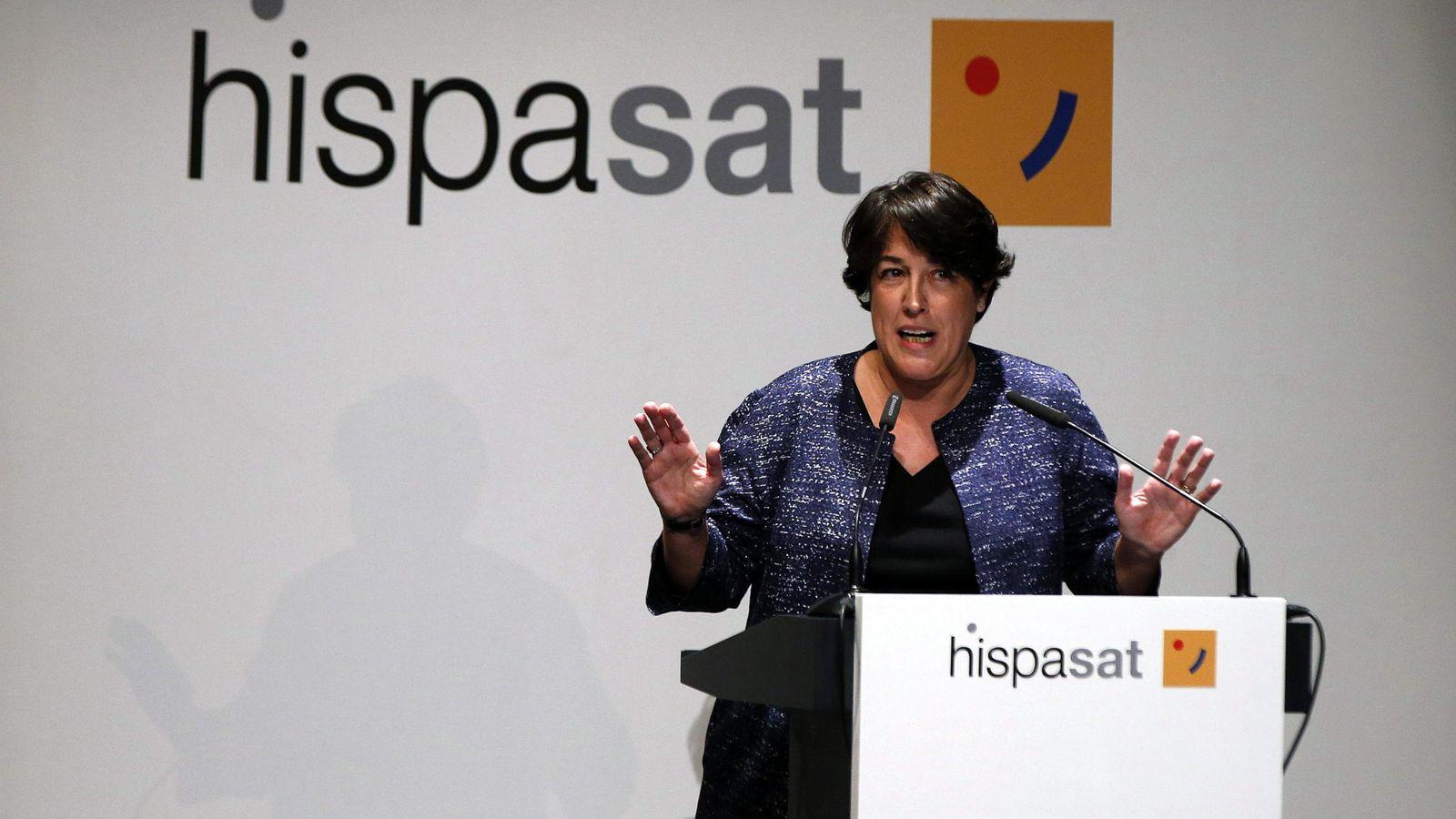 Foto: La presidenta de Hispasat, Elena Pisonero. (EFE)