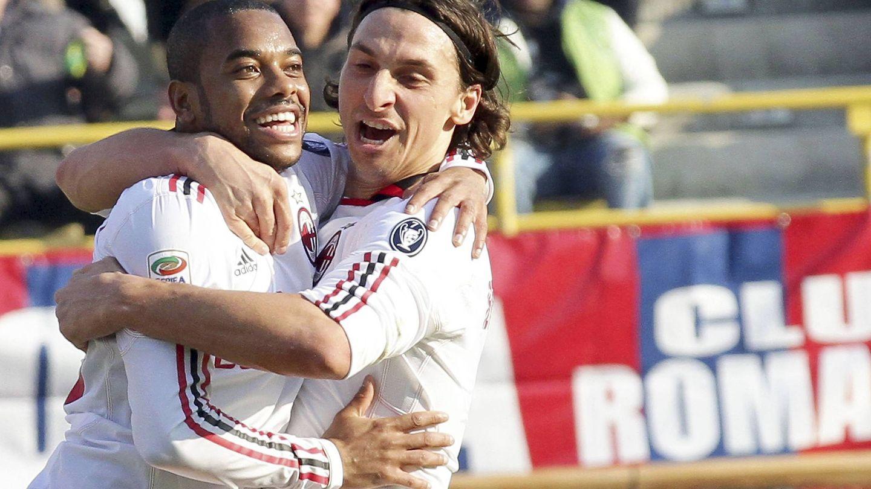 Con Ibrahimovic volvió a ser feliz. (EFE)