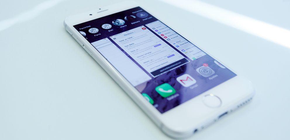 Foto: iPhone 6 con el sistema operativo iOS 8 (Fotografía: Enrique Villarino).